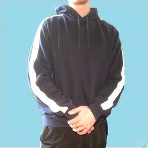 H&M striped sleeve hoodie